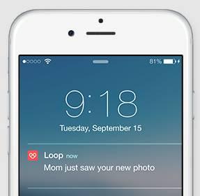 get notifications from loop